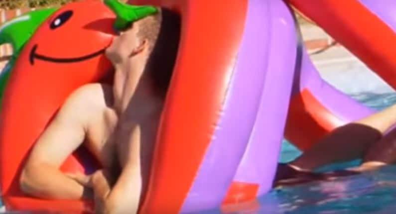 amor por dragon inflable