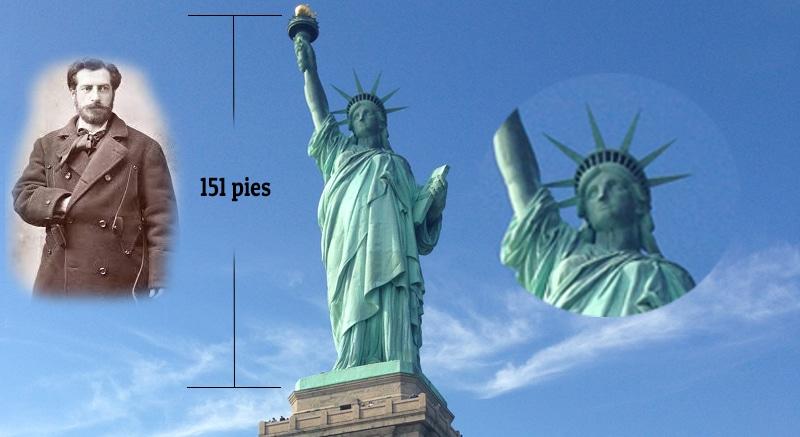 cuanto mide la estatua de la libertad
